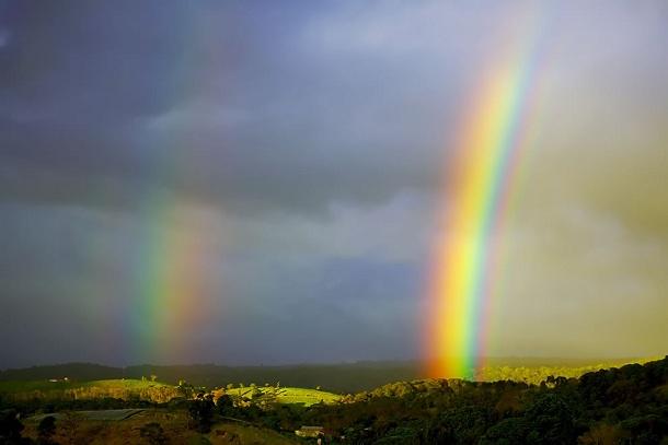 Oggi c'è l'arcobaleno.
